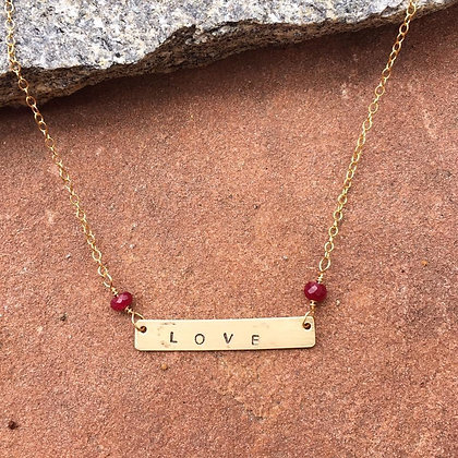 How Do I Love Thee Necklace