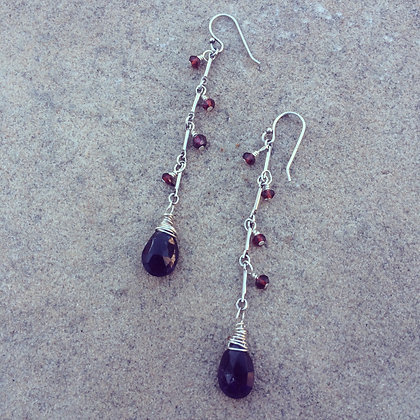 Silver Berry Earrings