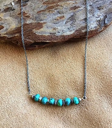 Turquoise Stripe Neclace