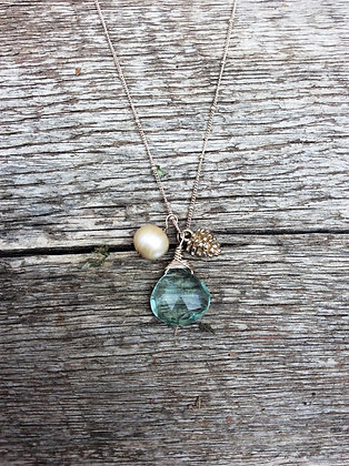 Pearl and Pine Forest Necklace