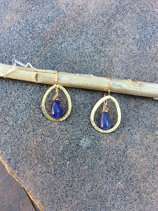 Purple Princess Drop Earrings