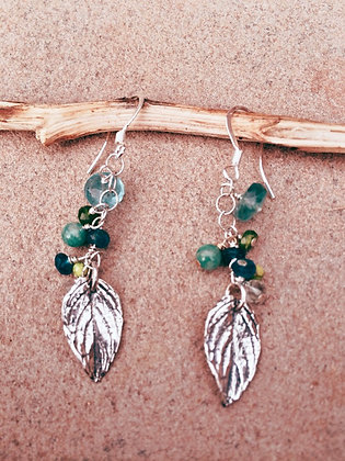 Leaves of Grass Earrings