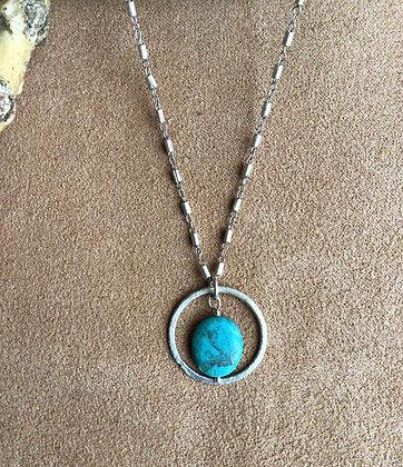 Turquoise Bullseye Necklace