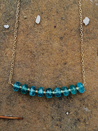 Blue Ice Apatite Necklace