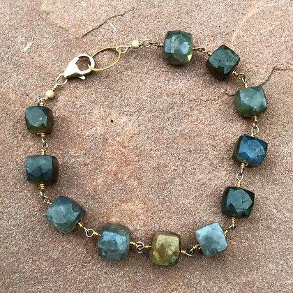 Labradorite Squared Bracelet