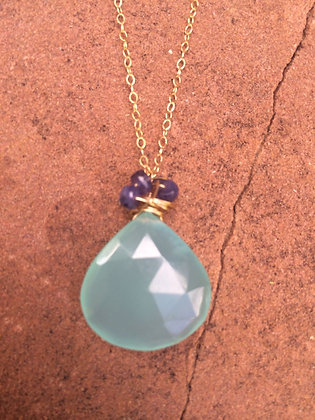 Chalcedony Wrap Necklace