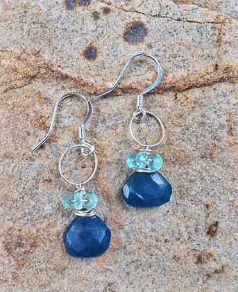 Wrapped Peacock Earrings
