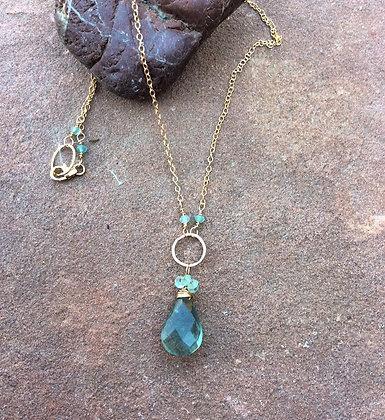 Fluorite Wrap Necklace