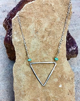 Sterling Triangle Manifestation Necklace