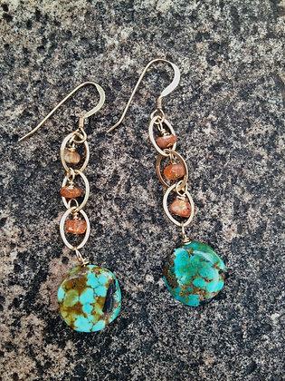 Turquoise Sunset Earrings