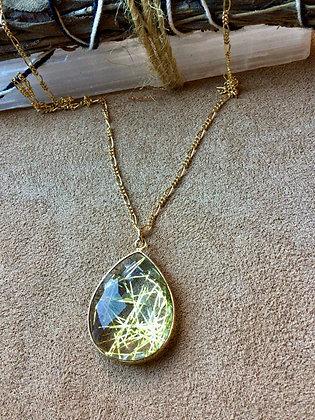 Golden Quartz of Promise Necklace