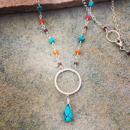 Circle of Turquoise Necklace