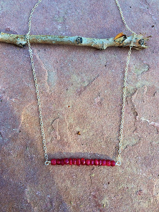 String of Rubies Necklace