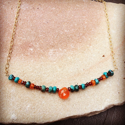 Luscious Carnelian Bar Necklace