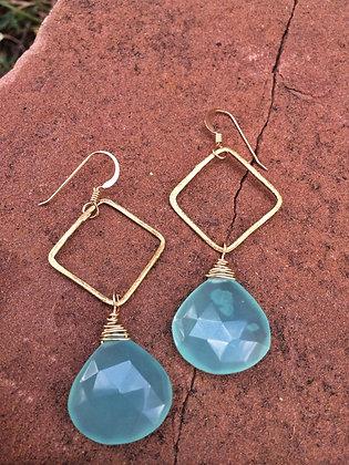 Kryptonite Chalcedony Earrings