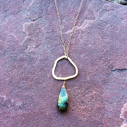Perrenial Prehnite Necklace