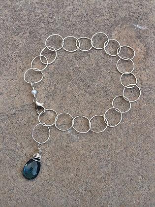 London Blue Topaz Sweet Circles Bracelet