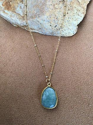 Sea of Peace Larimar Necklace