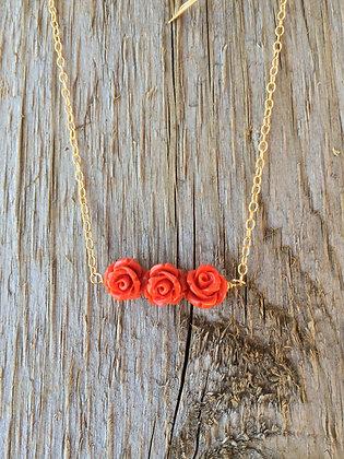 Tea Rose Necklace