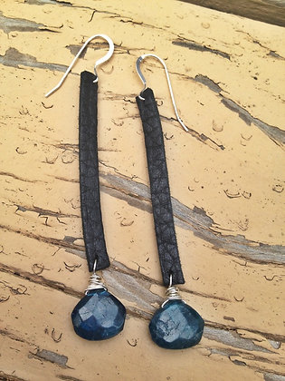 Black Ride 'em Cowboy Earrings