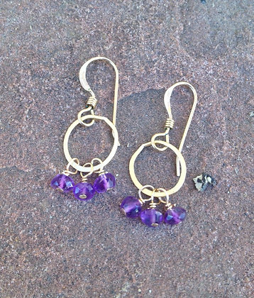 Sprinkling Amethyst Earrings
