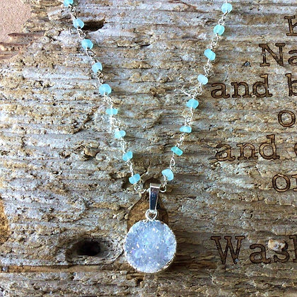 Moon over the Mediterranean Necklace