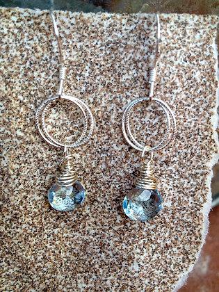 Rainy Blue Drop Earrings