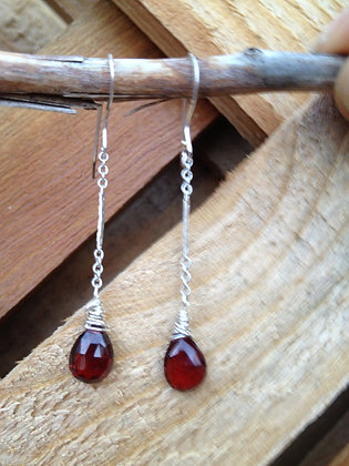 A Splash of Garnet Earrings