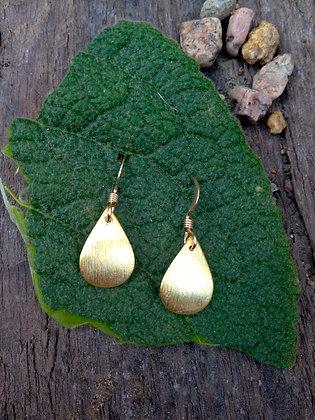 Vermeil Pear Earrings