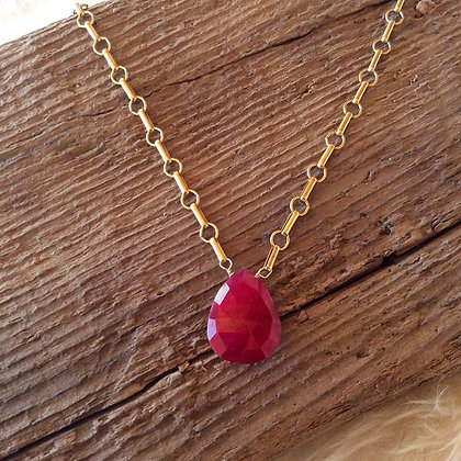 Radiant Ruby Necklace