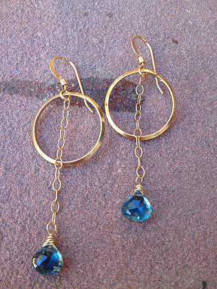 London Topaz Pendulum Earrings