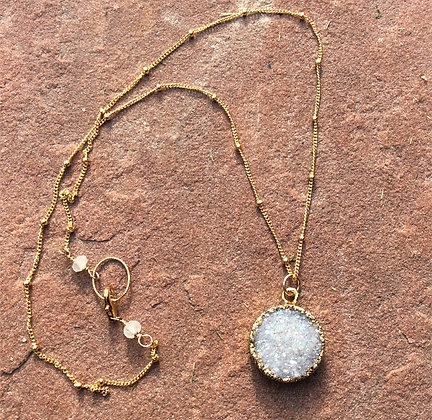 Full Moon Druzy Necklace