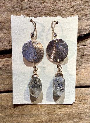 Full Moon in Herkimer Earrings