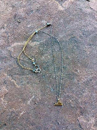 Mixed Metals Mountain Necklace