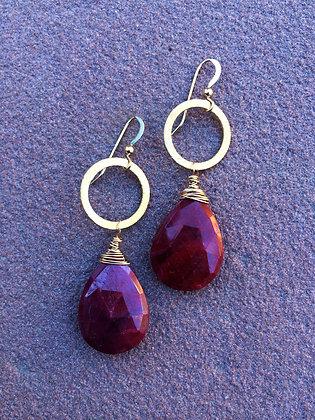 Ruby Queen Earrings