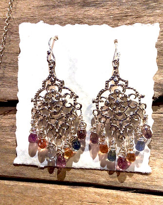 Sapphire Splendor Earrings