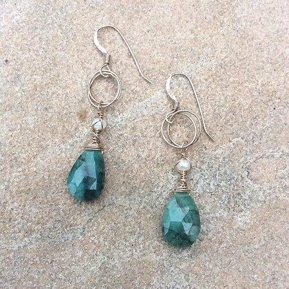 Emerald Elegance Earrings