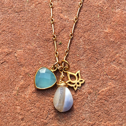 Lotus Blue Necklace