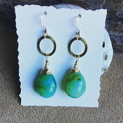Peruvian Princess Opal Earrings