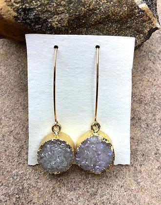 Moon Burst Druzy earrings