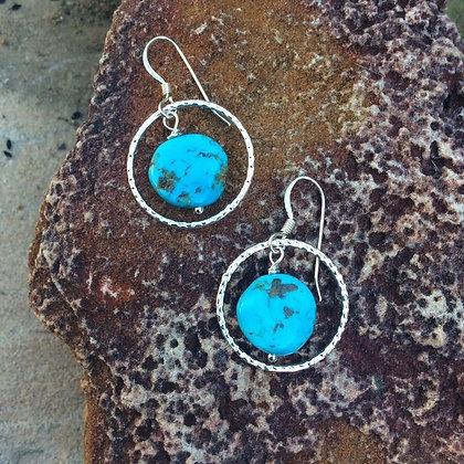Turquoise Bullseye Earrings