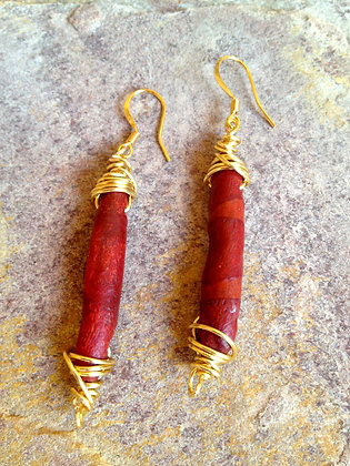 Coral Creation Earrings