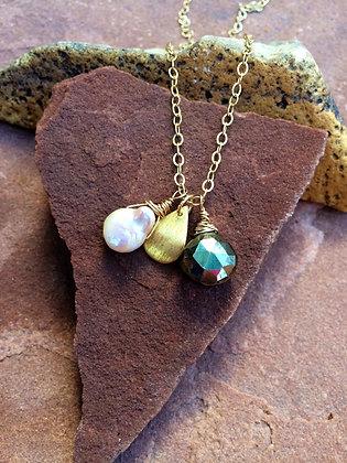 Fool's Gold Trio Necklace