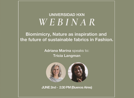 Webinar 2.6: Biomimicry, Nature as inspiration and the future of sustainable fabrics in Fashion