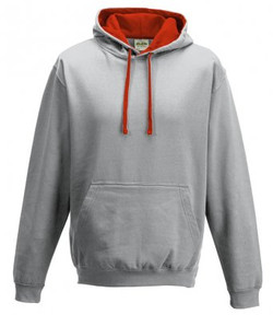 JH030 HEATHER GREY - FIRE RED