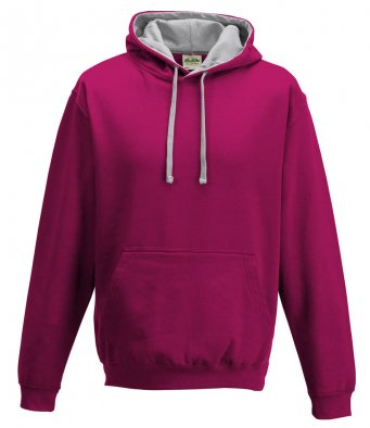 JH030 HOT PINK - HEATHER GREY