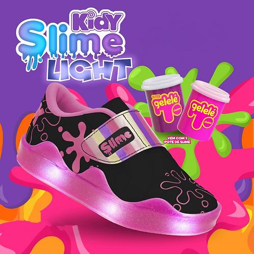 Tênis Kidy Slime Light Preto/Rosa - Com 1 pote de slime