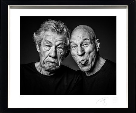 Ian McKellen & Patrick Stewart - Fine Art Print