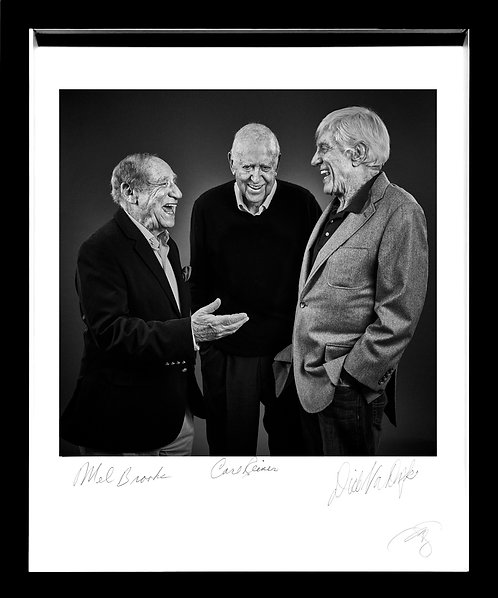 Co-Signed Mel Brooks, Carl Reiner & Dick Van Dyke - Fine Art Print