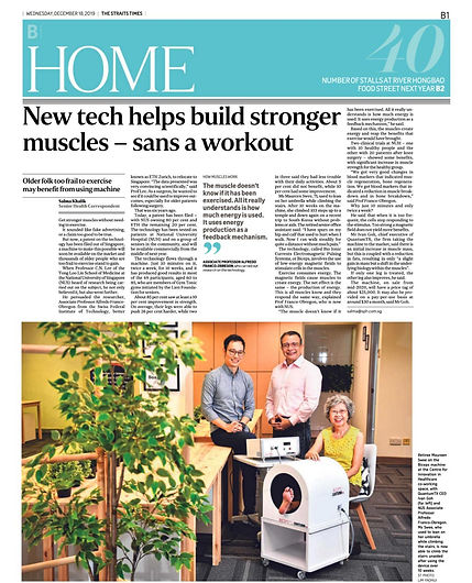Straits Times: New tech helps build stronger muscles
